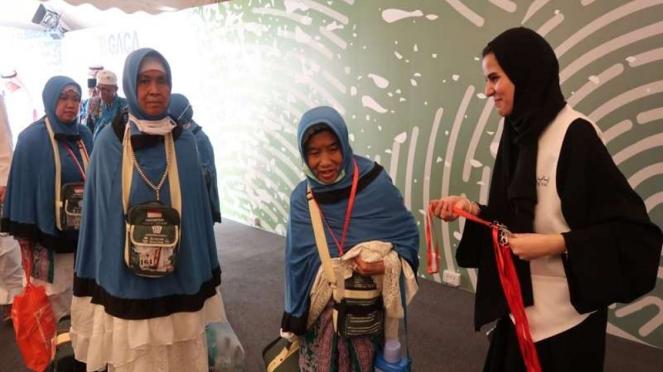 Jemaah haji yang mendapat fasilitas Iyab/Eyab di Bandara Jeddah