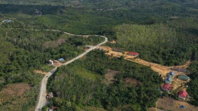 Lokasi Kecamatan Sepaku di Kabupaten Penajam Paser Utara.  Sepaku dan Samboja, Kutai Kartanegara akan menjadi lokasi ibu kota baru Indonesia.