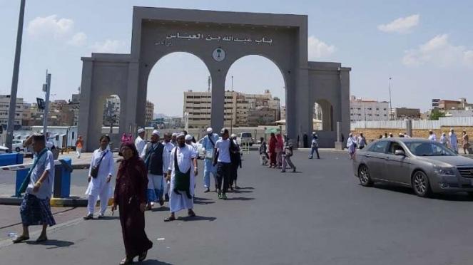 Gerbang Masjid Abdullah bin Abbas di Taif Mekah