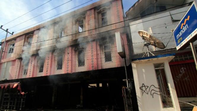 Kondisi pasca kerusuhan Jayapura
