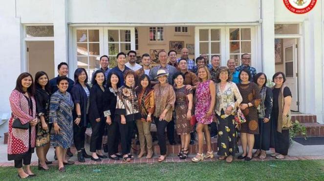 Pejabat KJRI dan masyarakat Indonesia di Los Angeles Amerika Serikat