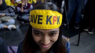 Aksi Solidaritas Gerakan Selamatkan KPK.