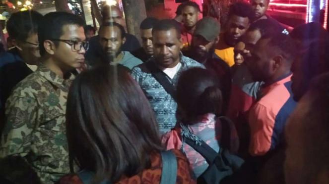 11 Pemuda Papua datangani Polda Metro Jaya.