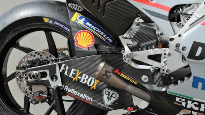Carbon fibre swingarm milik motor Ducati, Andrea Dovizioso