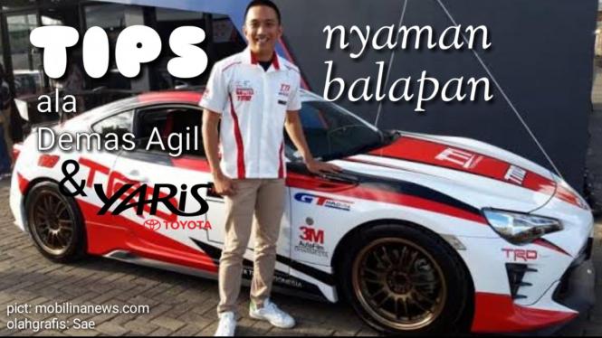 Demas Agil dan Toyota Team Indonesia Bagikan Tips Nyaman Balapan dan Berkendar