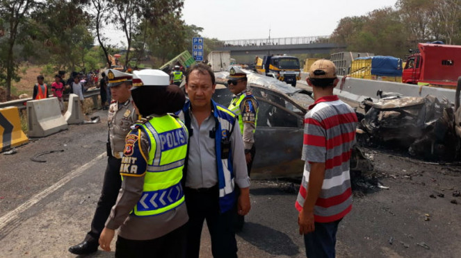 Kecelakaan beruntutun di Tol Cipularang, Senin 2 September 2019
