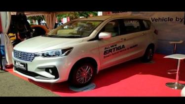 All New Suzuki Ertiga Hybrid dipajang di acara pawai mobil listrik