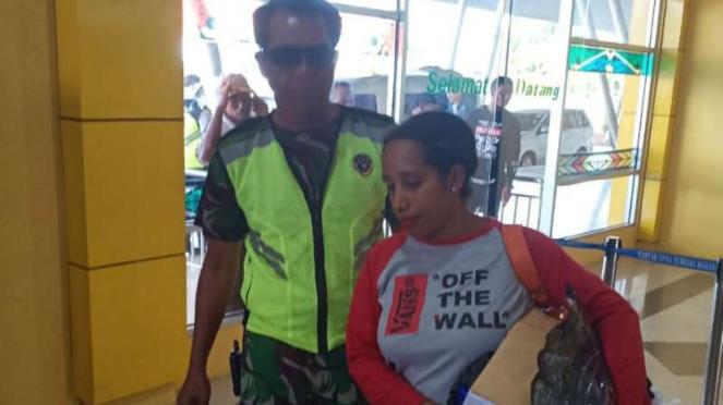 Ketua DPD Partai Perindo Kota Sorong, Sayang Mandabayan, ditangkap.