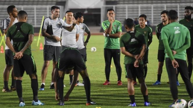 Latihan Timnas Indonesia Jelang Lawan Malaysia