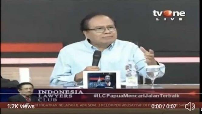 Rizal Ramli dalam acara ILC di tvOne