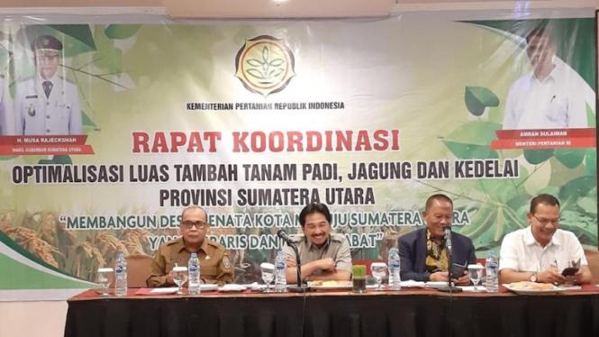 Rakor Program Upaya Khusus Padi, Jagung dan Kedelai (Upsus Pajale) di Medan