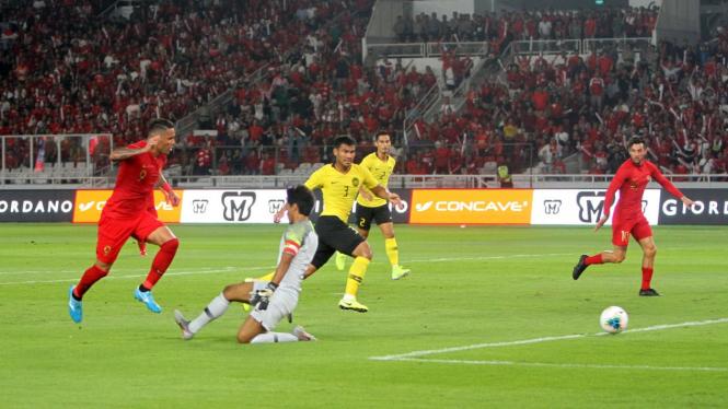 Laga kualifikasi Piala Dunia 2022, Indonesia Vs Malaysia.