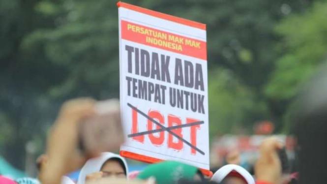 Aksi penolakan terhadap LGBT (Foto ilustrasi)