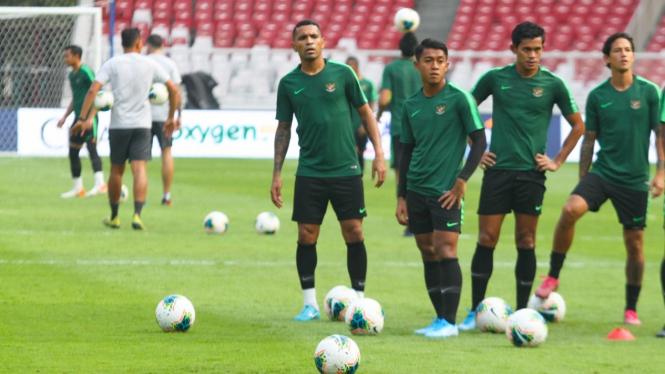 Latihan Timnas Indonesia Jelang Lawan Thailand