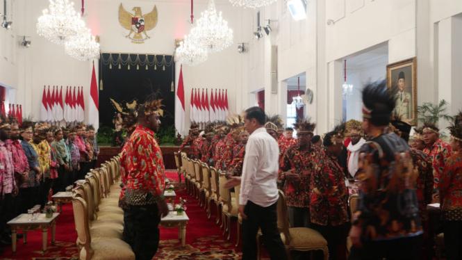 Presiden Joko Widodo bertemu masyarakat Papua