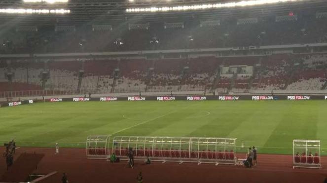 Suasana GBK jelang Indonesia vs Thailand