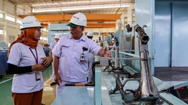 Proses perakitan Honda Genio di pabrik AHM Cikarang
