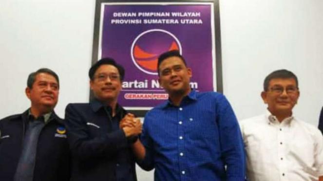 Bobby Afif Nasution sambangi kantor NasDem Medan.