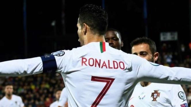 Kapten sekaligus penyerang Timnas Portugal, Cristiano Ronaldo