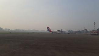 Kabut asap di bandara