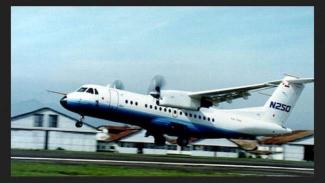 Pesawat N-250, salah satu karya warisan mendiang Presiden ke-3 RI, BJ Habibie.