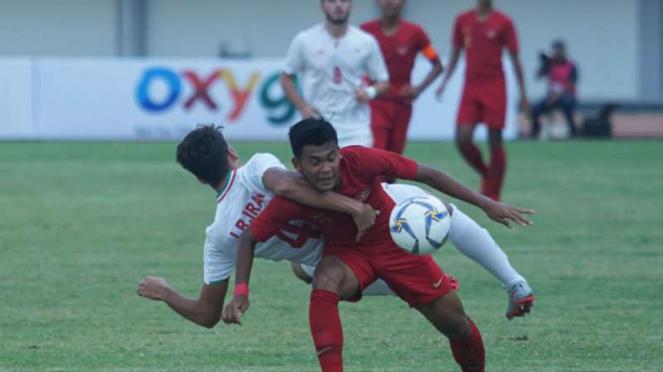 Duel Timnas Indonesia U-19 vs Iran.