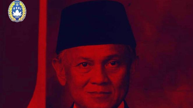 Postingan akun Instagram resmi PSSI sampaikan belasungkawa wafatnya BJ Habibie