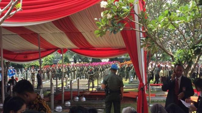 Jelang pemakaman BJ Habibie di Taman Makam Pahlawan Kalibata
