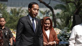 Presiden Jokowi dan Ibu Negara, Iriana.