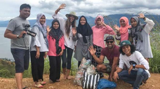 Kegiatan di Yayasan Sumatera Volunteer yang didirikan Muhammad Husen.