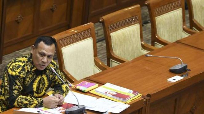 Ketuak KPK Terpilih Firli Bahuri saat uji kepatutan dan kelayakan di DPR beberapa waktu lalu.