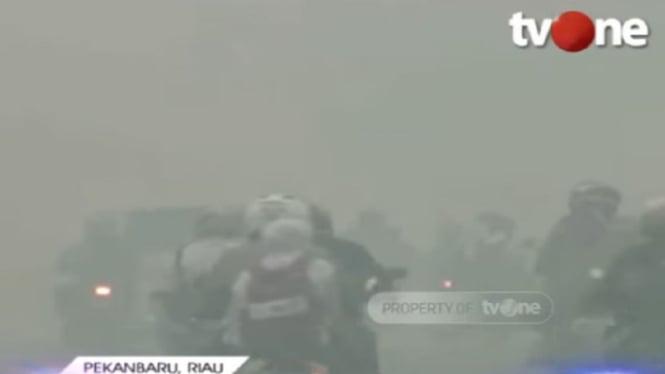 Kabut asap di Pekanbaru, Riau