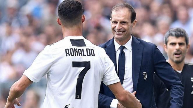 Massimiliano Allegri saat masih menjabat pelatih Juventus