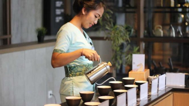 Suasana di Black Eye Coffee Bedugul, Bali