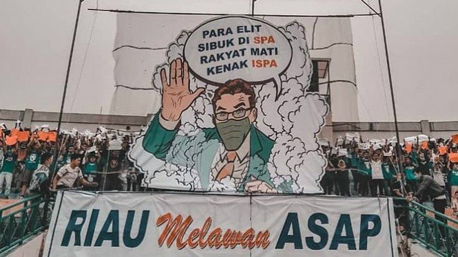 Protes Riau melawan asap