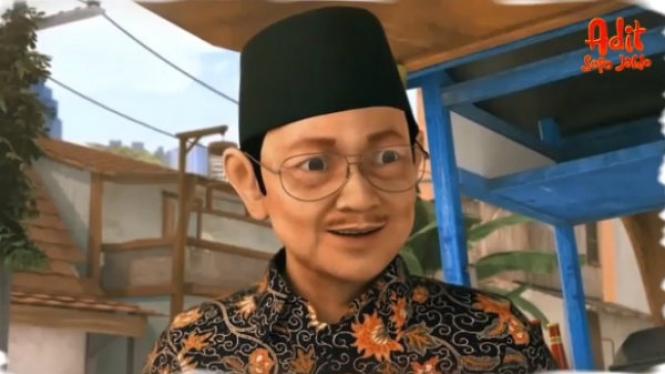 BJ Habibie di animasi Adit Sopo Jarwo