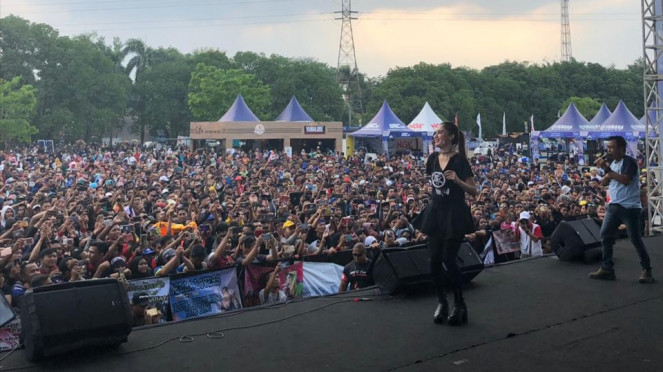 Pedangdut Nella Karisma, turut meramaikan Yamaha Endurance Festival 2019