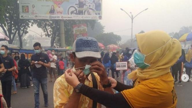 Kondisi kabut asap di Kalimantan Tengah