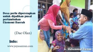 Ir. Muhammad Ruslan blusukan ke pelosok desa di Kabupaten Dompu