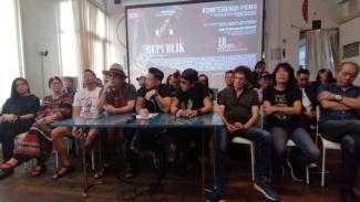 Konferensi pers Musik untuk Republik.