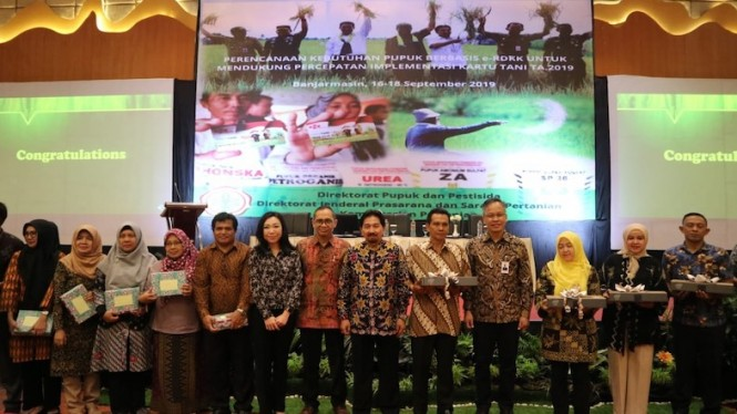 Pertemuan Perencanaan Kebutuhan Pupuk Berbasis e-RDKK di Banjarmasin, Selasa (17/9).