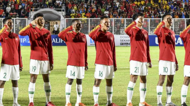 Pemain Timnas Indonesia U-16.