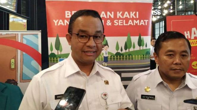 Gubernur DKI Jakarta Anies Baswedan di Jakarta, Rabu, 18 September 2019.