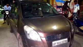 Mobil korban ulah oknum polisi di India