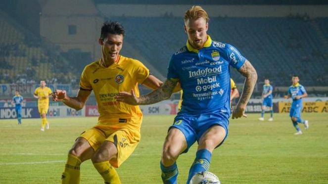 Pertandingan Liga 1 2019 antara Persib Bandung melawan Semen Padang