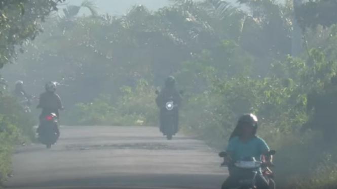 Kabut asap di Aceh Barat