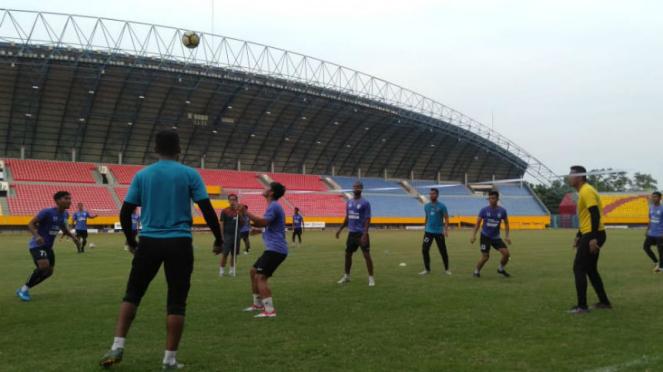Skuat Sriwijaya FC saat berlatih