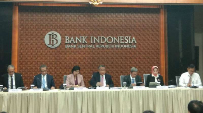 Konferensi pers Bank Indonesia.
