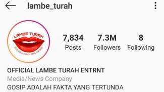 Akun Instagram Lambe Turah
