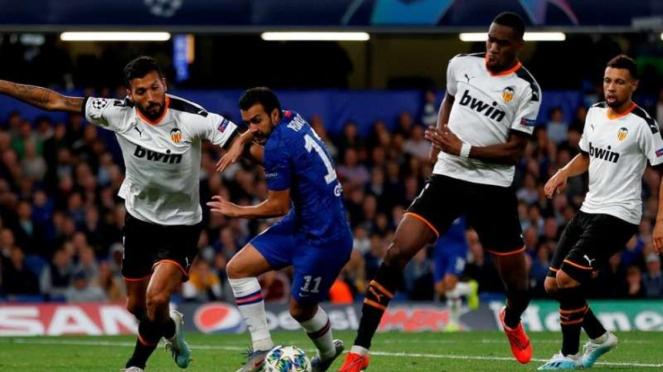 Pertandingan Liga Champions 2019/2020 antara Chelsea kontra Valencia